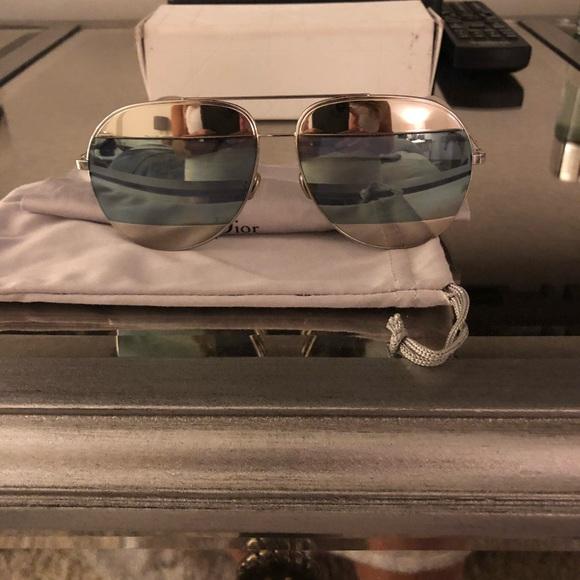 50b2b7a52f Dior Accessories - DiorSplit Two-Tone metallic aviator sunglasses